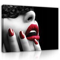 CANVAS Wandbild Bilder Leinwandbild Kunst Frau Erotik Lippen Mund Wohnzimmer XXL