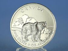 Kanada 5 Dollars 2011 , Wildlife Grizzly , 1 oz 999 Silber / AG