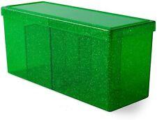"Card Deck Storage Dragon Shield 4 Compartment Box Emerald 8 1/2""x 4""x 3"""