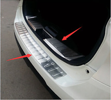 Outer + Inner Rear Bumper Guard Plate Trim 2pcs for Nissan Rogue X-Trail 14-16