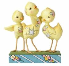 "Jim Shore Heartwood Creek Trio of Chicks "" Hooray For Spring"" Nib #6001077"