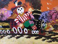 🔥 Antique Mid Century Abstract Folk Art Oil Painting - Paul Blaine Henrie