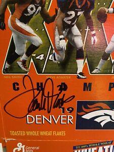 Terelle Davis Signed 1997 Super Bowl Denver Broncos Wheaties Box