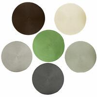 Platzdecke in 6 Farben Ø 38 cm 6er/12er Set Tischset rund geflochten Platzset
