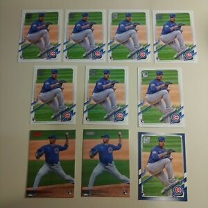 2021 Brailyn Marquez Topps Rookie Baseball Cards - 10 Cards (1 Parallel)