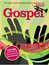 PlayAlong Gospel With A Live Band! Songs Tunes Hits Lead Trumpet MUSIC BOOK & CD