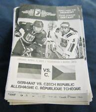 1,7KG OF 2013 IIHF WORLD WOMEN HOCKEY CHAMPIONSHIP OTTAWA SINGLE GAME PROGRAMS