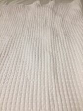 Hotel Balfour Shower Curtain Waffle Weave Honeycomb White 100% Cotton