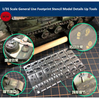 1/35 Scale General Use Footprint Handprint Stencil Model Scene Details Up Tools