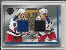 03-04 Luxury Suite Eric Lindros/Brian Leetch Dual Jersey # 42 #d/650