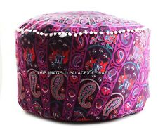 Indian Paisley Mandala Pouffe Cover Foot Stool Ottoman Cotton Pouffe Pouf Cover