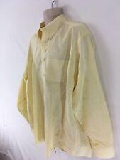 Brooks Brothers Traditional Fit Mens XL Yellow Irish Linen Dress Shirt