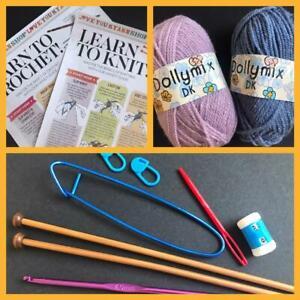 Beginners Learn to Crochet Knit Kit