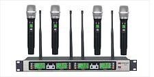 GTD AUdio 4x100 Channel UHF Wireless Microphone Mic System 500MHz B-33