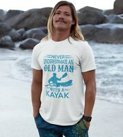 KAYAK Men's T-shirt Never Underestimate Old Man Gift For Father Dad Kayaking Tee