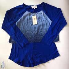 NWT Women's Two  by Vince Camuto Tiered Animal Print Knit Top-Size L