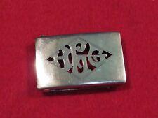 Vintage Sterling Belt Buckle, Cut Out Monogram