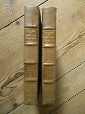 Lettres d'amour de jane welsh et de thomas carlyle. 2 volumes. 1910