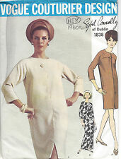 1967 Vintage VOGUE Sewing Pattern DRESS B34 (1158) By 'Sybil Connolly'