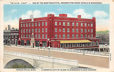 FERGUS FALLS MN 1947 River Inn Hotel VINTAGE USA GEM+++