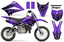 KLX110 Kawasaki Graphic Kit AMR Racing Decal Sticker Kawi Part 2010-2013 FLAME U