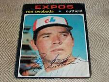 Montreal Expos Ron Swoboda Auto Signed 1971 Topps Card #665  HI #  TOUGH  N