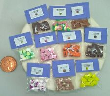More details for dolls house food 5 miniature bags of assorted fudge 1/12 scale  handmade