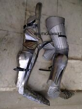 Medieval Steel Greaves Armour Leg Guard
