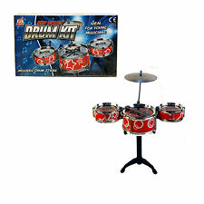 MY FIRST DRUM KIT SET WITH DRUM STICKS - IDEAL FOR YOUNG MUSICIANS - MUSICAL TOY