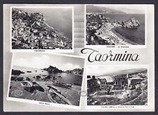 MESSINA TAORMINA 33 VEDUTINE - MAZZARÒ Cartolina FOTOGRAFICA viaggiata 1956