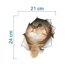1pc PVC Plastic Toilet Sticker adhesive and 3D & waterproof Cat Design-8199m