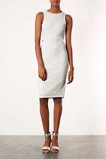 Topshop White Cut Out Bodycon Midi Dress