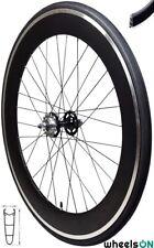 700c Fixie Single Speed Rear Wheel Flip Flop  Black Rim and Black Tyre 70mm Deep