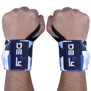 """DEFY Power Weight Lifting Wrist Wraps Supports Gym Workout Bandage Straps 18"""""""