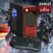 AMD Custom Built Quad-Core Gaming PC Computer Desktop 3.7GHz HDMI WiFi Gigabyte