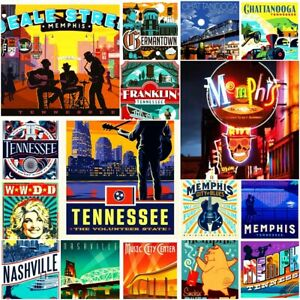 "Tennessee Raleigh America Fridge Magnet Locker Vintage Retro 2x3"" BUY 2 GET 2"