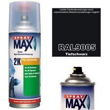 Spraydose 2K Lackspray Matt Seidenmatt Glänzend RAL 9005 TIEFSCHWARZ Acryllack