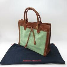 Designer - Dooney & Bourke Ladies Logo Tote Bag, Leather & Green Canvas Handbag