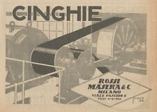 Z1563 Cinghie ROSSI MASERA & C. - Pubblicità d'epoca - 1926 Old advertising