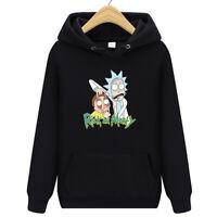 Men Women Rick Morty Hoodie Sweater Skateboard Solid Sweatshirts Pullover Coat B