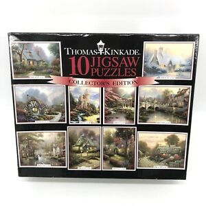 2014 Ceaco Thomas Kinkade Collector Edition 10 In 1 Multi Jigsaw Puzzle Set NEW