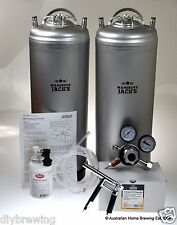 SUPERIOR NEW Twin Keg Set Pluto Gun Beer Mangrove Jack's home brew keging beer