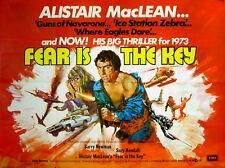 FEAR IS THE KEY 1972 Suzy Kendall Barry Newman John Vernon, Ben Kingsley UK QUAD