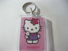 Personalised Hello Kitty Keyring  Ideal For: Book Bags Tags, Name Tags
