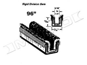 Rigid Division-Bar Channel, Fits:1955-1967 Chrysler, Desoto, Dodge and more