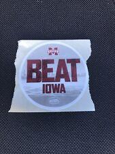 "MISSISSIPPI STATE 2019 Outback Bowl ""Beat Iowa"" Sticker - 2018 Season"