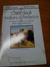 LIBRO CANTI DEGLI INDIANI D'AMERICA TASCABILI ECONOMICI NEWTON 1992
