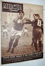 MIROIR SPRINT N°92 1948 RUGBY XV WALES-FRANCE FOOTBALL FC METZ BOXE CATCH BASKET