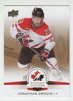 (56082) 2014-15 UPPER DECK TEAM CANADA JUNIORS GOLD JONATHAN DROUIN #100