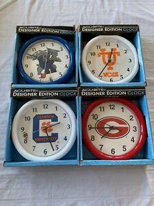 "NCAA Assorted Teams Acu-Rite College Clock 8"" Brand New"